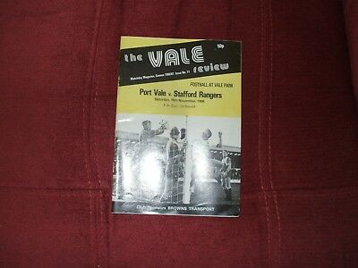 Port Vale V Stafford Rangers Fa Cup 15-11-1986