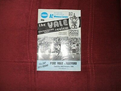 Port Vale V Watford Fa Cup 20-2-1988