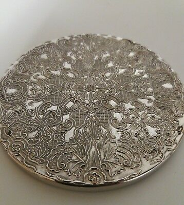 Silver plated coasters