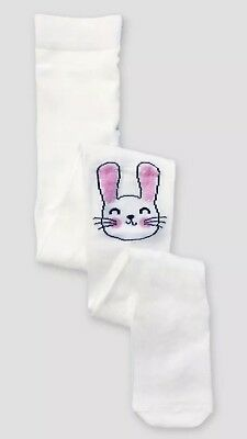 NWT Cat & Jack Girl's Size 4-6X  7-10 12-14 White Bunny Footed Tights Easter