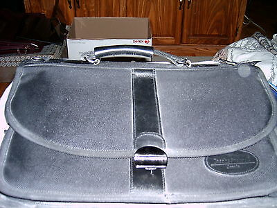 Black Nylon Briefcase with Lots of Pockets and Zips