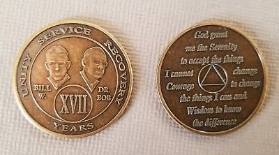 Recovery coins AA 11 Year Bronze Bill /& Bob Medallion Tokens Sobriety Birthday