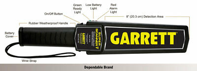 Super Scanner Garrett Metal Detector V Security Wand Hand Held Handheld New K3
