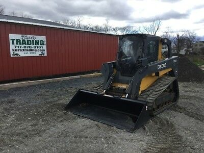 2011 John Deere 333D Tracked Skid Steer w/ Cab & Loaded W/ Options!