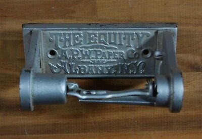 Cast Iron Toilet Paper Roll Holder The Equity APW Paper Co Albany NY Antique TP