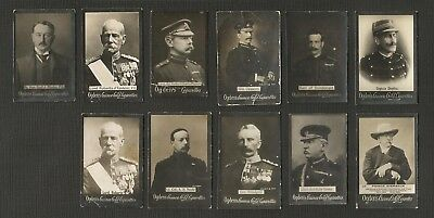 CIGARETTE TRADE CARDS ~ OGDEN (circa 1900) MILITARY & LEADERS