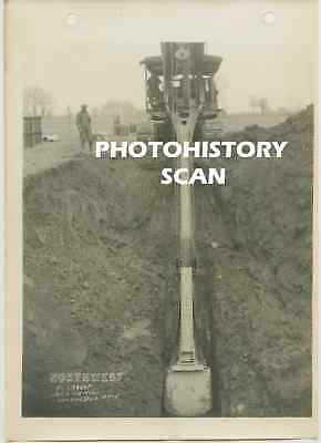 Northwest Engineering Shovel Crane Early Photograph Columbus Ohio Vintage