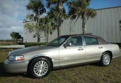 2003 Lincoln Town Car Signature Presidential SOFT TOP SUNROOF LOADED PREMIUM ALPINE~LEATHER HEATED~KEYLESS ENTRY CD-CHANGER~CHROME~GOLD~NICEST ONE