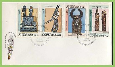 Guinea Bissau 1984 World Heritage, African Crafts set on two First Day Covers