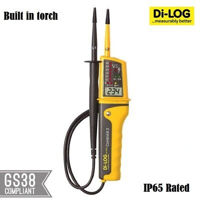 Di log DL6790 CombiVolt 2 digital Voltage and Continuity tester, IP65 Rated