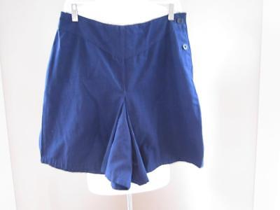 VTG 1950s GYMPHLEX Navy Cotton Gym Wide Leg Shorts Size Medium