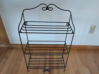 Longaberger Wrought Iron Bread Basket Rack Stand 3 tier levels NEW