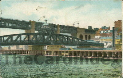 NEWCASTLE UPON TYNE High and Low Level Bridges Postcard NORTHUMBERLAND Anon