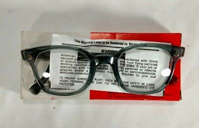 Vintage American Optical Safety Eye-Glass Frames with Clear Lens Flexi-Fit