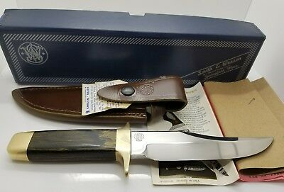 Smith And Wesson Model 6010 Blackie Collins Hunting Bowie Knife NOS In Box 1975