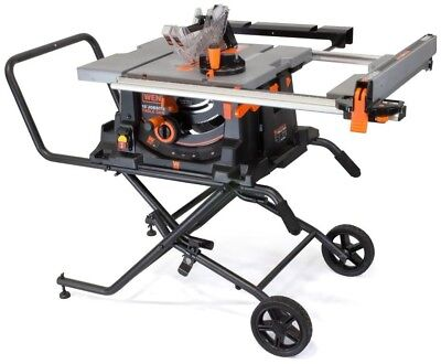 Porter cable 15 amp 10 in carbide tipped table saw 19999 picclick wen 15 amp 10 in jobsite table saw with rolling stand keyboard keysfo Images