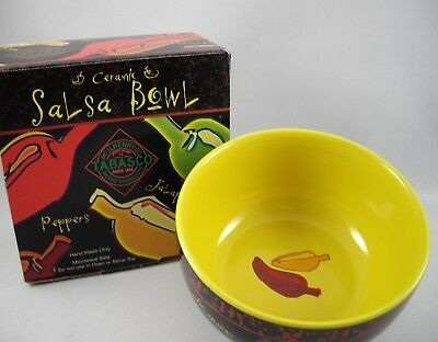 Tabasco Brand Hot Sauce Salsa Bowl with Box Colorful Design Ceramic NEW
