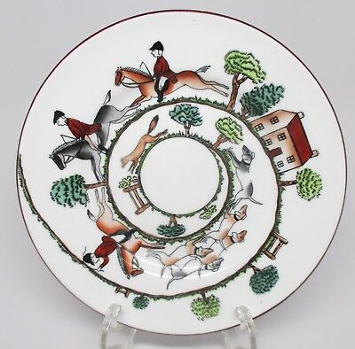 Crown Staffordshire - Hunting Scene - Bread & Butter Plate - England - B