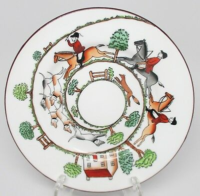 Crown Staffordshire - Hunting Scene - Bread & Butter Plate - England - D