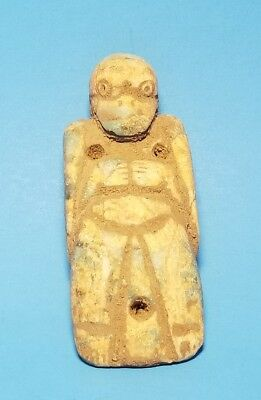 Pre-Columbian Avian Axe God  Pendant, Costa Rica