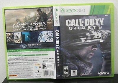 Used Xbox 360 Activision Call Of Duty Ghosts Cod Video Game Free Shipping