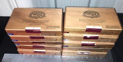 Padron Delicias Empty Wooden Cigar Boxes! Lot Of 10!