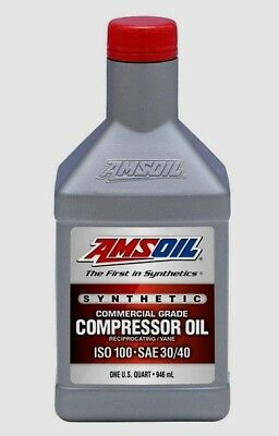 Amsoil Synthetic Compressor Oil - ISO 100, SAE 30/40  1Qt.