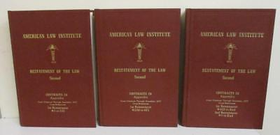 American Law Instistute Restatement of the Law Second: Contracts Appendix 3 vol