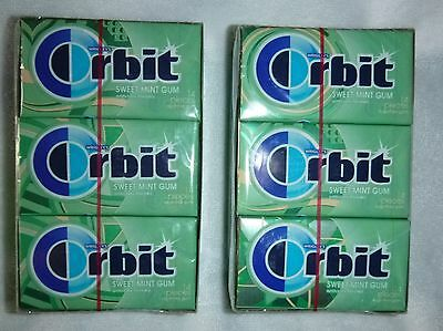 Lot of 24 Wrigleys Orbit Gum Sweet Mint 14 count each, 336 total Factory Sealed
