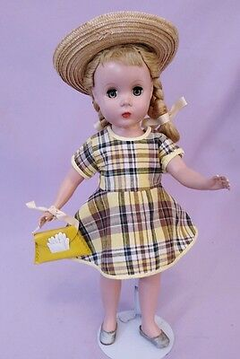 "14"" Hard Plastic POLLY PIGTAILS DOLL by MADAME ALEXANDER 1950s MAGGIE FACE"
