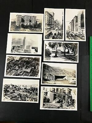 1920's Los Angeles CA Buildings Street Antique Early 1900's Photo Collection Lot