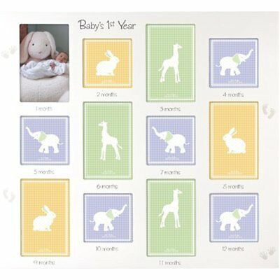 Baby's 1st Wall & Tabletop Frames Year Collage Picture Frame, 12 Option, 6-4x6