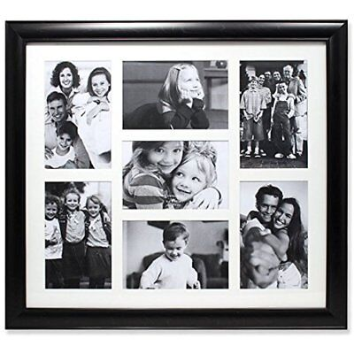 LUNA 9-OPENING WALL & Tabletop Frames Collage Frame, Black NEW NO ...