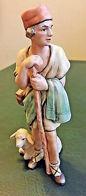 "Goebel Nativity TMK-6 Shepherd Lamb Rare 8"" Vintage W. Germany Sign Number"