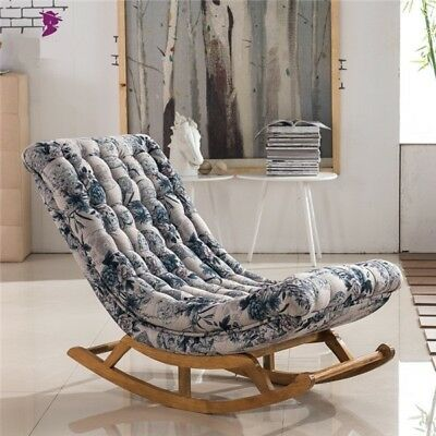 Vintage Rocking Chair Upholstered Living Room Luxury French Style Rocking  Chair
