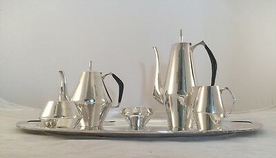 The Diamond by Reed & Barton Sterling Silver Five Piece Tea and Coffee Set