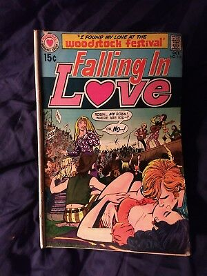 "FALLING IN LOVE #118 DC ""I Found my Love at the WOODSTOCK FESTIVAL"" FREE SHIP!"