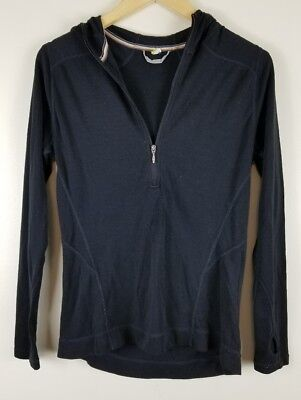 Smartwool Women's Small 250 Midweight Merino Hooded Half Zip Base Layer flaws