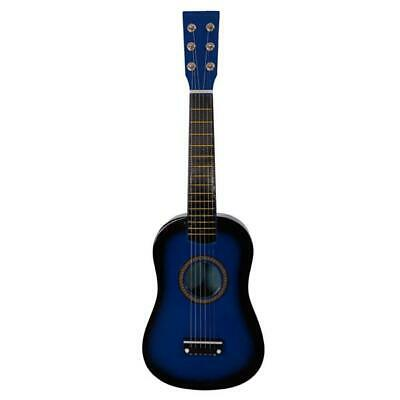 "23"" Wood Beginners Acoustic Guitar with Guitar Pick Steel 6 String Blue"
