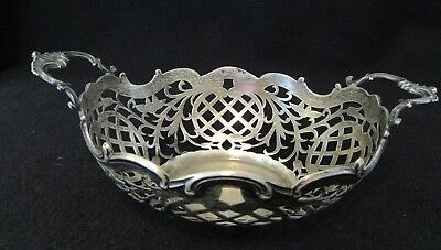 Vintage Holland Sterling Silver Cut Out Bowl 130 Grams  (B2)