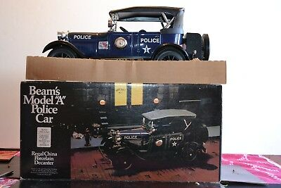 "Jim Beam's Model ""A"" 1929 Police Car-Porcelain Decanter-New in Box-Unopened"