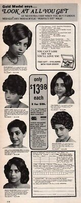 1976 Gold Medal Hair Prod Womens Curly Wigs African American Black Print Ad