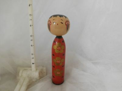 Cute Japanese kokeshi antique wooden doll
