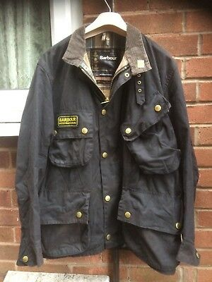Barbour International wax cotton Motorbike Desinger jacket m