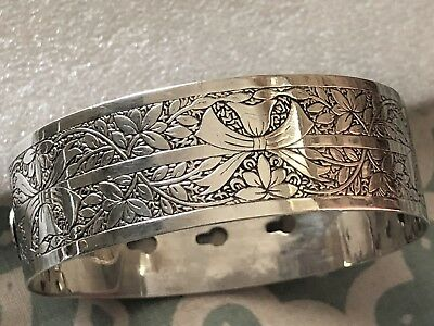 Sterling Silver Bangle - Charles Horner - Chester - 1945.