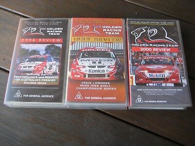 Mobil Holden Commodore 1998 1999 2000 VHS highlights x 3
