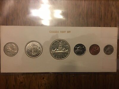 1956 Canada Proof Coin Set in Cardboard Holder