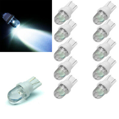 10pcs 12V White T10 W5W LED Car Wedge Bright Side Number Plate Light Lamp Bulb