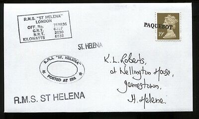 St. Helena, Paquebot Cover, to Wellington House, Jamestown, July, 2000.