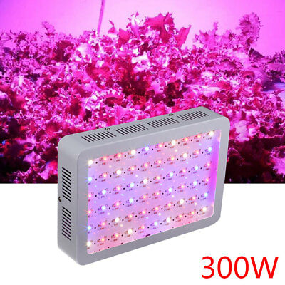 300W LED Grow Light Full Spectrum Veg Bloom Hydroponics Indoor Pflanze Blumen